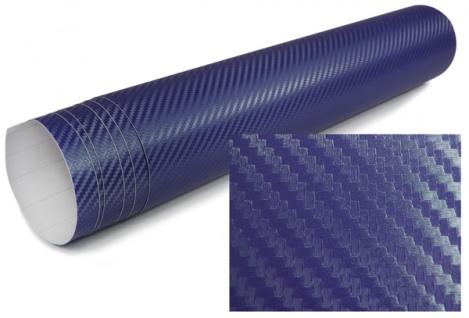 3D Carbon Folie selbstklebend 30cm *1.524 Meter blau