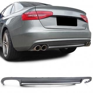 Sport Heck Diffusor Einsatz Stoßstange für Audi A4 B8 Limousine Avant 07-11