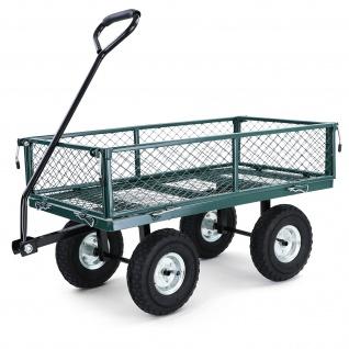 Transport Gitterwagen Handwagen Bollerwagen Seitenteile klappbar bis 250kg Grün