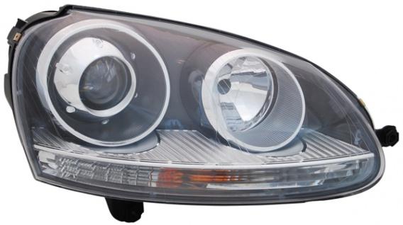 D2S / H7 BI Xenon Scheinwerfer schwarz rechts TYC für VW Golf V 03-09