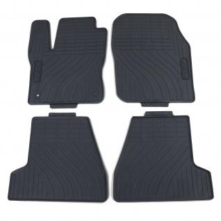 Premium Gummi Fußmatten Set 4-teilig Schwarz für Ford Focus ab 10