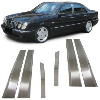 Edelstahl Fensterleisten Türleisten B-Säule für Mercedes W210 Limousine