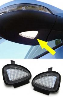 LED Aussen Spiegel Umfeld Beleuchtung Hell weiß für VW Golf Touran Tiguan Jetta