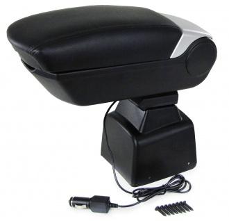 Premium Mittelarmlehne Armlehne mit Staufach + 2 USB für Ford Focus II 04-12