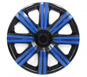 Radkappen Radzierblenden für Stahlfelgen Set Tenzo-R II 14 Zoll schwarz blau