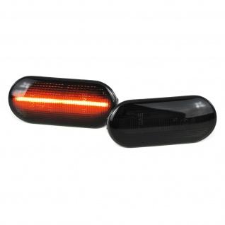 Dynamische LED Seitenblinker schwarz für VW Bora Golf Polo Seat Leon Ford Fiesta