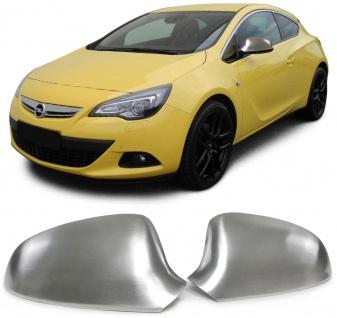 Aussen Spiegelkappen Abdeckungen Cover Alu matt für Opel Astra J Schrägheck