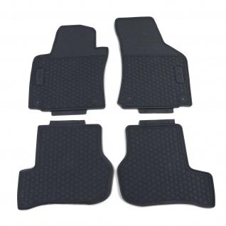 Premium Gummi Fußmatten Set 4-teilig Schwarz für Skoda Octavia 1Z3 1Z5 04-13