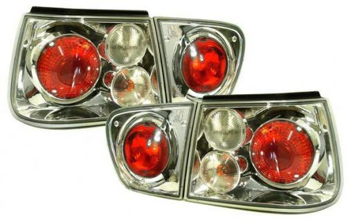 Klarglas Rückleuchten chrom für Seat Ibiza 6K Facelift 99-02