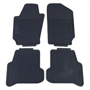 Premium Gummi Fußmatten Set 4-teilig Schwarz für VW Polo 6R ab 09