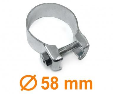 Auspuff Rohr Montage Breitbandschelle universal 58mm M10