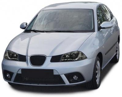 Scheinwerfer LED Tagfahrlicht Optik schwarz für Seat Ibiza 6L 02-08 - Vorschau 3