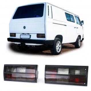 Rückleuchten Schwarz Smoke für VW Bus Kasten Transporter T2 T3 79-92