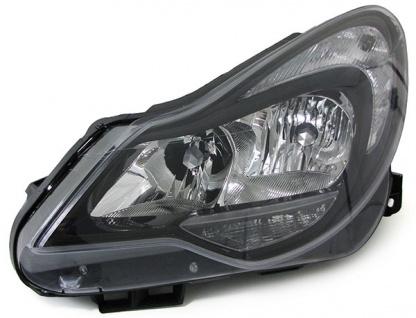 Scheinwerfer H1 H7 schwarz mit Stellmotor links für Opel Corsa D ab 11