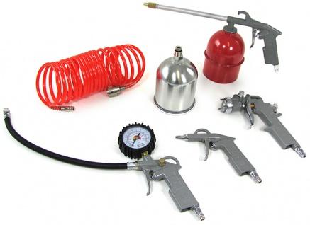 Kompressor Druckluft Set Sprühpistole Reifenfüller Lackierpistole Schlauch
