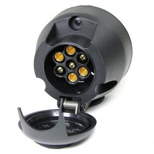 Anhänger Steckdose 7 polig ISO 1724 12V + Schraubensatz Anhängerkupplung PKW