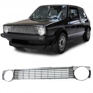 Kühlergrill ohne Emblem chrom für VW Golf 1 Cabrio Caddy 74-92