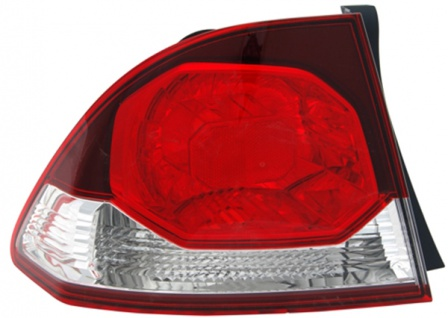 Rückleuchte Aussen rot klar links TYC für Honda Civic VIII Limousine FD 08-