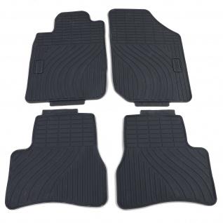 Premium Gummi Fußmatten Set 4-teilig Schwarz für Peugeot 206 00-09