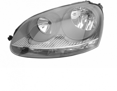 H7 / H7 Scheinwerfer grau links TYC für VW Golf V 03-09