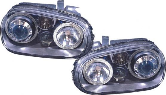 Angel Eyes Scheinwerfer R32 Optik schwarz für VW Golf 4 97-03