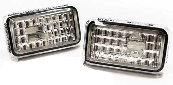 Klarglas Seitenblinker chrom für Audi 80 90 100 A6 C4 200 V8