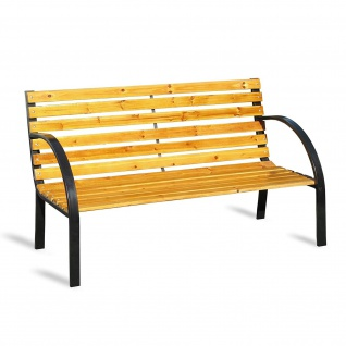 Gartenbank Parkbank Holz 2 Sitzer Breite 123 cm