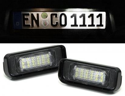 LED Kennzeichenbeleuchtung weiß 6000K für Mercedes S Klasse W220 00-05