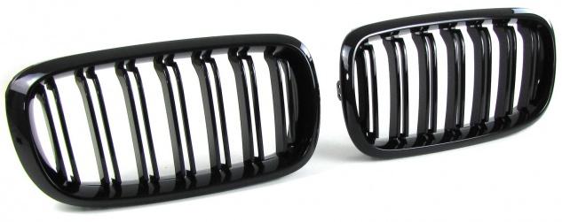 Sport Kühlergrill Nieren Doppelsteg schwarz glänzend für BMW X5 F15 13-18 X6 F16