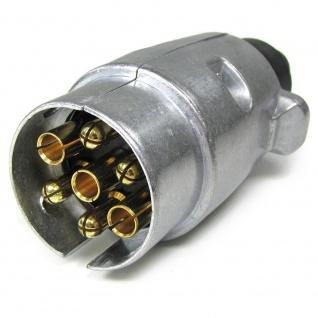 Auto Anhänger Adapter Stecker 7 polig ISO 1724 für 12v Alu