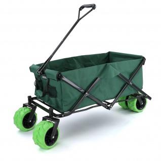 Garten Transport Strand Faltwagen Handwagen Bollerwagen klappbar bis 80kg Grün