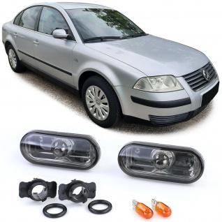 Klarglas Seitenblinker Chrome Schwarz Smoke für VW Golf 3 4 Vento Bora Passat