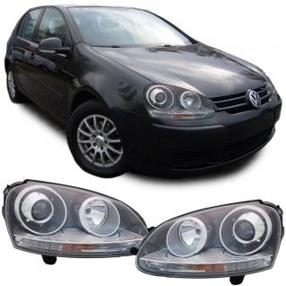 BI Xenon Scheinwerfer schwarz Paar für VW Golf V 03-09 Jetta III 1K2 05-10
