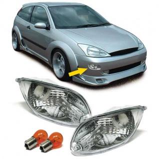 Klarglas Blinker chrom Paar mit Leuchtmittel für Ford Focus 98-01 - Vorschau 5