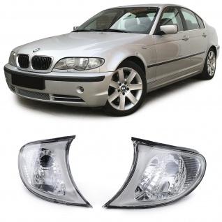Blinker Klar Titanium Paar Rechts Links für BMW 3er E46 Limousine Touring 01-05
