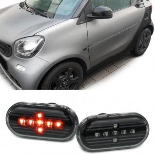LED Klarglas Seitenblinker Schwarz für Smart Fortwo 453 ab 14