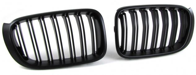 Sport Kühlergrill Nieren Doppelsteg schwarz matt für BMW X3 F25 X4 F26 ab 14