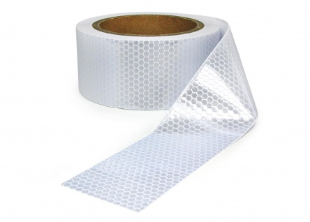 Signal Warn Absperr Band PVC selbstklebend reflektierend weiß 5cmx10m