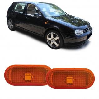Seitenblinker orange Paar für Ford Galaxy 00-06 Seat Alhambra 7V Arosa 6H - Vorschau 1