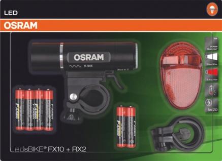 Osram FX10 + RX2 LED Front und Rücklicht Leuchten für Fahrräder Set