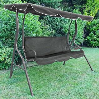Hollywoodschaukel Gartenschaukel Outdoor Indoor 3 Sitzer Grau Typ 1