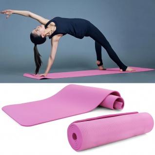 NBR Yogamatte Fitness Sport Gymnastikmatte Bodenmatte Pink 180x60cm 10mm