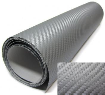 3D Carbonfolie silber selbstklebend 30cmx153cm