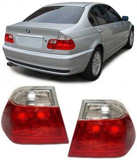 RÜCKLEUCHTEN ROT WEISS KLAR FACELIFT OPTIK FÜR BMW 3ER E46 Limousine 98-01