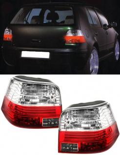 Rückleuchten rot klar mit Celis Technik für VW Golf 4 97-03