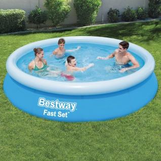 BESTWAY Fast Set Pool Swimmingpool Rund Schnellaufbau 366x76cm