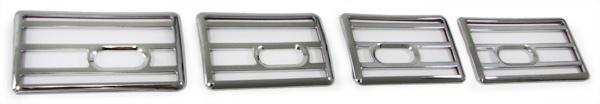 Lüftunsgitter Blenden Cover Set 3 teilig chrom für Peugeot 106 96-04