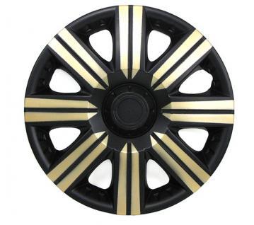Radkappen Radzierblenden für Stahlfelgen Set Tenzo-R II 14 Zoll schwarz gold - Vorschau 3