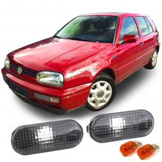 Seitenblinker Schwarz Smoke Paar für VW Golf 3 4 Vento Bora Passat Ford Seat