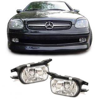Klarglas Nebelscheinwerfer HB4 chrom Paar für Mercedes W203 CLK C209 SLK R170 - Vorschau 2